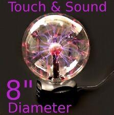 "8"" PLASMA Nebula BALL Lightning Electricity Party Light TOUCH & SOUND Activated"