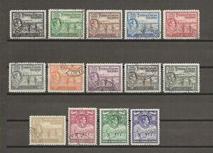 TURKS & CAICOS ISLANDS 1938-45 SG 194/205 USED Cat £80