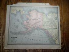 1885 Map of The District of Alaska - Map of Nova Scotia & New Brunswick On Back