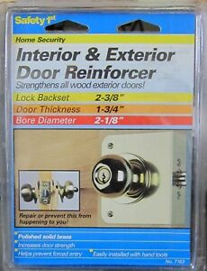 "Door Reinforcer, 2-3/8"" x 1-3/4"", Polished Solid Brass"