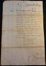 KING LOUIS XIV AUTOGRAPH ON COURT ORDER JANUARY 26, 1709 König von Frankreich