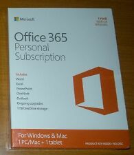 Microsoft Office 365 Personal Subscription 1YR EUROZONE MEDIALESS QQ2-00038 NEW