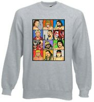 Retro Wrestling Legends Jumper Sweater All Sizes WWF WCW Ric Flair Rick Rude
