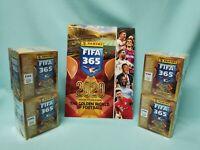 Panini Fifa 365 2020 Sticker Sammelalbum +  4 x Display / 200 Tüten Album