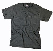 Hanes Men 5190C Beefy Cotton Blend Pocket T Shirt Charcoal Heather Medium (M)