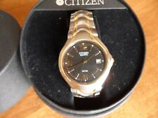 Citizen Quartz WR50 2510 - S011311 S-0-N9 Men's Watch Black Dial Needs Battery