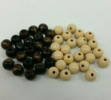 Score Four Game Replacement Beads Brown And Tan Lot of 46 Wooden Pieces Lakeside