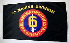 6th Marine Division Usmc Flag 3' x 5' Indoor Outdoor Military Banner