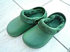 NEW Town & Country Eva green lightweight fleecy CLOGGIES--Size 6 UK adult.