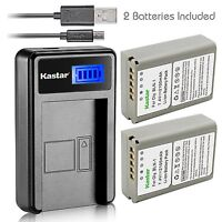 Kastar Battery and LCD Slim USB Charger for Olympus BLN-1 OM-D E-M1 M5 PEN E-P5