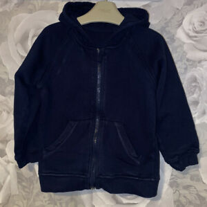 Boys Age 3-4 Years - Navy Hooded Zip Up Top