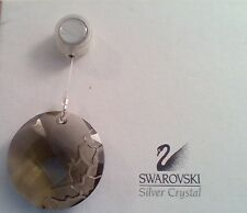 "Swarovski 2010 Scs Member Earth Smokey Quartz Ornament Msrp $55. 2"" 50 mm diam."