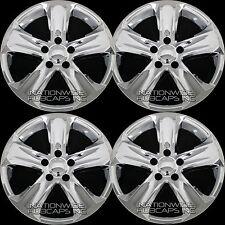 """4 New 2013-2015 Toyota RAV4 17"""" Chrome Wheel Skins Hub Caps R17 Full Rim Covers"""