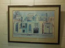 Vintage framed Poster  Signed Neil Wrasm?