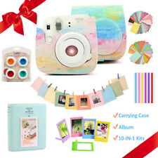 Fujifilm Instax Mini 8 9 Instant Camera Paint Case Bag Cover + Album + Stickers