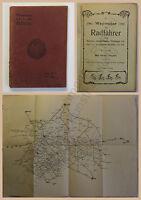 Hertel Wegweiser für Radfahrer durch Sachsen, Nordböhmen, Thüringen um 1890 xz