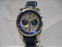 BOMBERG CHRONOGRAPH DATE BLUE LEATHER STRAP MEN'S WATCH NS39CHSS.SI0.3.LBU NEW