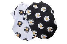 Set Of 2 daisy print black and white dog T-shirt size Medium