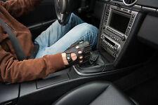 Autofahrer Lederhandschuhe Herren Schwarz mit Rote Nähen Auto Handschuhe