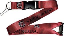NCAA South Carolina Gamecocks Logo Lanyard Keychain Clip With Keyring