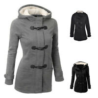Plus Size Double-breasted Winter Coat Women Wool Jacket Hoody Parka Horn ZNYBH