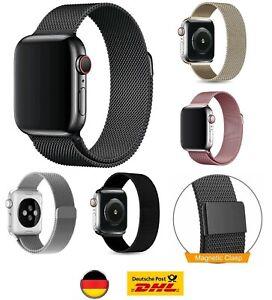 Apple Watch Armband 3 4 5 6 SE Milanaise Sport Edelstahl Magnet 38-40 42-44mm