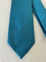 CHARVET Silk Classic Length Green/Blue Striped Tie
