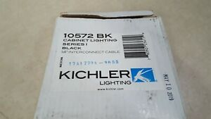 """Kichler 10572BK 14"""" Connector Cable for Light Bars in Black"""