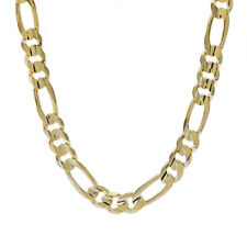 Figaro Link Chain 77.4 Grams 14K Yellow Gold 22 Inch