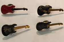 Stones The Beatles The Who Kinks 4 Vintage Rock'N'Roll Guitar Pins The Rolling