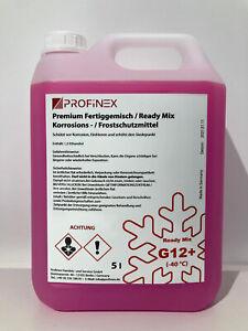 Frostschutzmittel -40 C Antifreeze G12+ Longlife  Kühlerfrostschutz 5L ROSA ROT