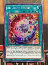 Yugioh Brilliant BLRR-EN064 rara secreta Fusion 1st Edición