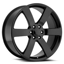 "4-Replica 165GB TrailBlazer SS 22x9 6x5"" +44mm Gloss Black Wheels Rims 22"" Inch"
