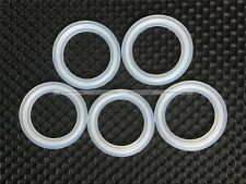 "5PCS 1.5"" Sanitary Tri Clamp Silicon Gasket Fits 50.5mm Type Ferrule Flange S8"