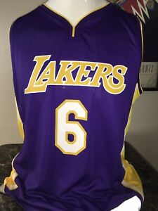 Fanatics Los Angeles Lakers Jersey # 6 Clarkson /Purple NEW with tags LARGE