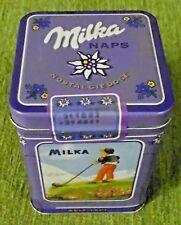 Alte Dose , Blechdose , Schokoladendose , Milka Naps , von 2002 , 9 x 9 x 11 cm