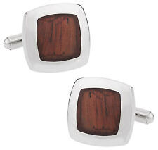 Robust Wood Cufflinks Direct from Cuff-Daddy