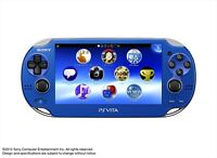 NEW PlayStation PS Vita Wi-Fi PCH-1000 ZA04 Sapphire Blue from Japan F/S game