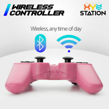 NEW Wireless Bluetooth Game Controller For PS3 Pink