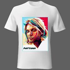 Mens t-shirt Movie Music Nirvana Kurt Cobain white Unisex Ladies S M L XL 2XL
