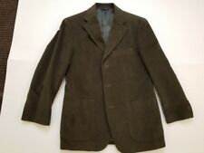 New Brooks Brothers dark green cotton sport coat - Small