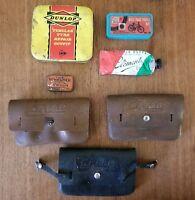 Vintage Bicycle Advertising Mafac Bike Tool Kit Pouch Dunlop Tyre Schrader