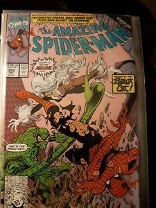 Marvel Comic The Amazing Spider-Man #342  Powerless part 2 Erik Larsen Art Vfn+