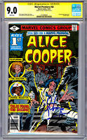 MARVEL PREMIERE #50 CGC-SS 9.0 *ALICE COOPER SIGNED* STORY BY ALICE 1ST APP 1979