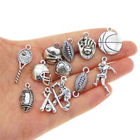 12 Pcs Multi-style Mix Ball Game Sports Charms DIY Pendant Jewelry Findings