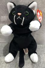 Ty Beanie Baby Zip 1993 Black White Cat Tag Errors Plush Toy Rare New Retired