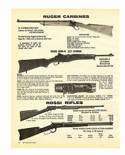 1981 AD RUGER CARBINES MINI-14 223, NO 3, 10/20, 44, ROSSI RIFLES SLIDE-ACTION