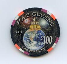 $100.00 Chip. Four Queens Casino  Millennium Edition Las Vegas , Nevada.