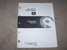 John Deere Used 516 & 616 Rotary Cutters Operators Manual B19