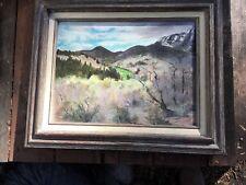 CANDY'S UTAH Original Oil Painting Landscape Beverly 1989 Signed Framed 16 x 12